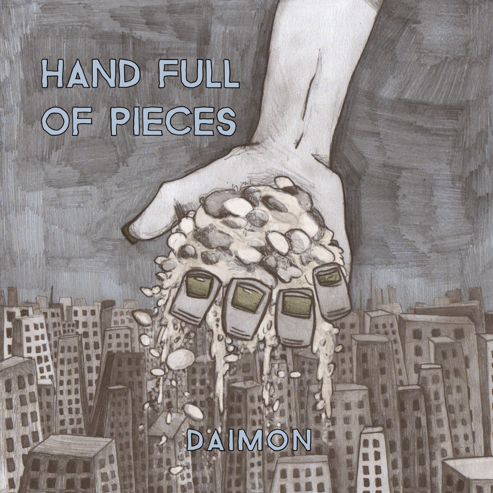 Front cover of the Hand Full of Pieces EP